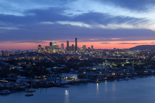 Brisbane from Hamilton by Eagle Eye Photography